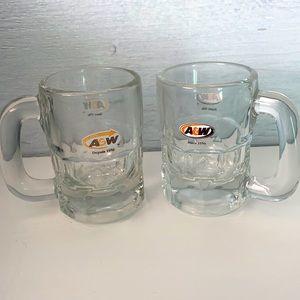 Vintage A&W mini mugs